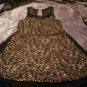 Forever 21 Black/Tan Party Dress